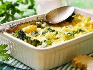 Запеканка от карфиол и броколи под сметанов сос на фурна